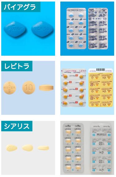 ED治療薬3種類
