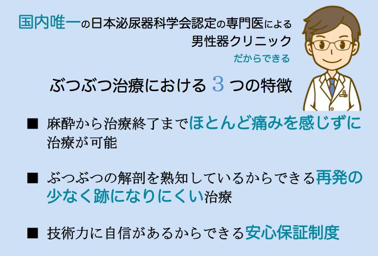【ぶつぶつ治療】当院の特徴